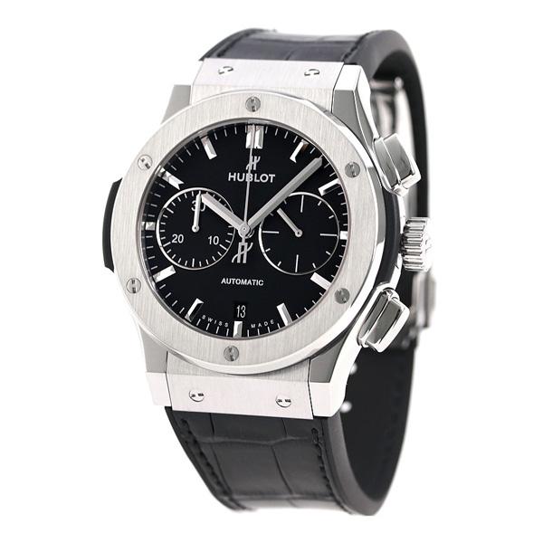 buy popular 60df8 9d87a ウブロ HUBLOT クラシック フュージョン クロノグラフ チタニウム 45mm 自動巻き 521.NX.1171.LR 腕時計  時計【あす楽対応】|腕時計のななぷれ