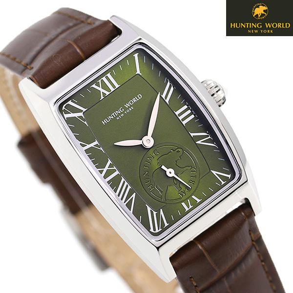 ハンティングワールド 時計 メンズ グラントノー 28mm HW503GRBR HUNTING WORLD 腕時計 革ベルト