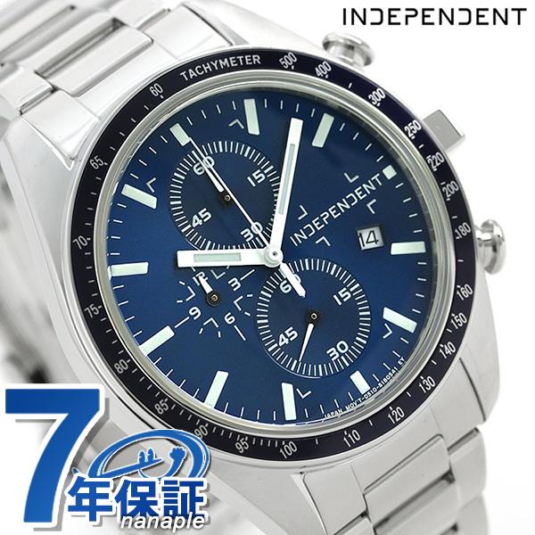インディペンデント メンズ 腕時計 スポーティ クロノグラフ BA7-115-71 INDEPENDENT ブルー 時計【あす楽対応】