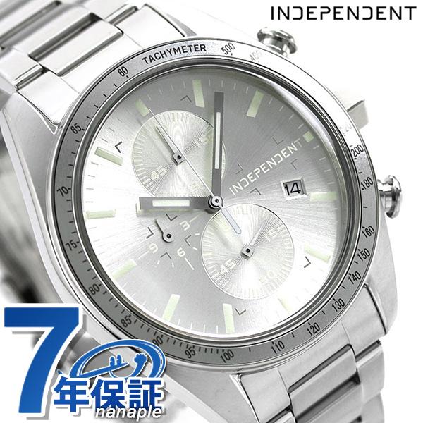 インディペンデント メンズ 腕時計 スポーティ クロノグラフ BA7-115-91 INDEPENDENT シルバー 時計