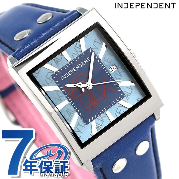 インディペンデント KEYTALK 限定モデル 革ベルト 腕時計 BQ1-514-70 ネイビー×マゼンダ 時計【あす楽対応】
