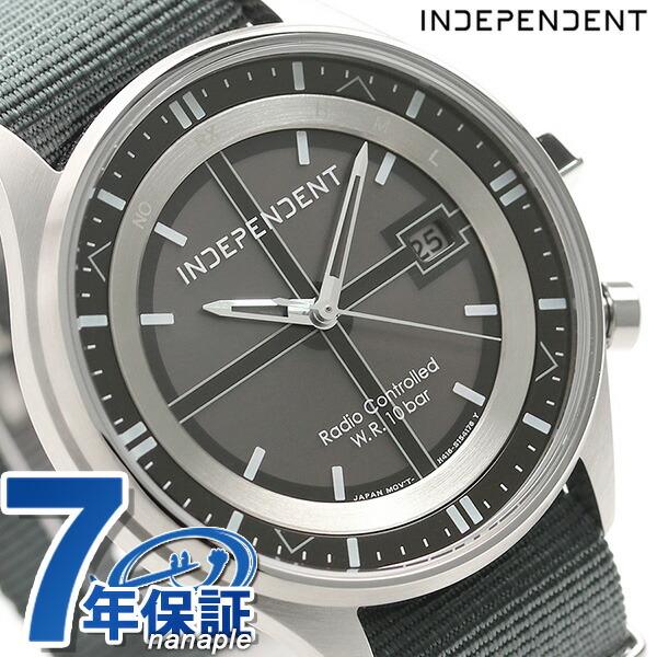 インディペンデント タイムレスライン 電波ソーラー KL8-643-50 腕時計 ブラック×グレー 時計