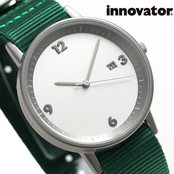 イノベーター ボールド 38mm クオーツ 腕時計 IN-0001-10 Innovator シルバー×グリーン 時計