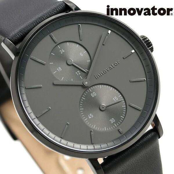 イノベーター オーリカー スモールセコンド 39mm IN-0004-3 Innovator メンズ 腕時計 グレー×ブラック 時計