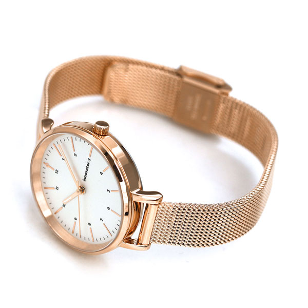 32mm mens watch in 0008 0 innovator silver x pink gold clock