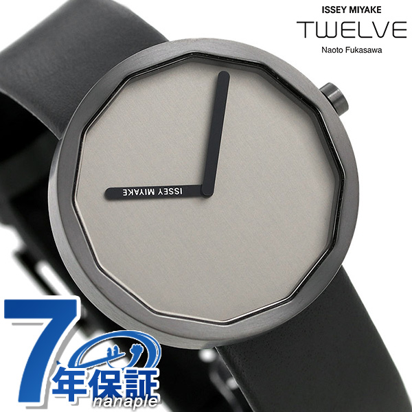 店内ポイント最大43倍!16日1時59分まで! イッセイミヤケ メンズ 腕時計 日本製 深澤直人 革ベルト NY0P005 ISSEY MIYAKE トゥエルブ TWELVE 時計