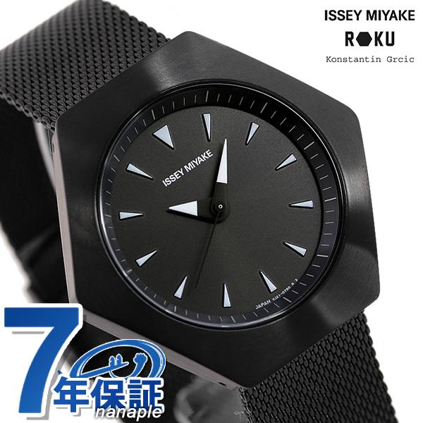 【今ならさらに+8倍でポイント最大33倍】 イッセイミヤケ 時計 ロクシリーズ 六角形 日本製 メンズ レディース 腕時計 NYAM002 ISSEY MIYAKE オールブラック 黒