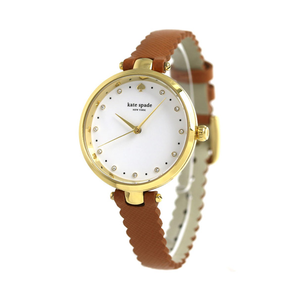Kate spade clock Lady's KATE SPADE NEW YORK watch Holland 34mm brown KSW1359