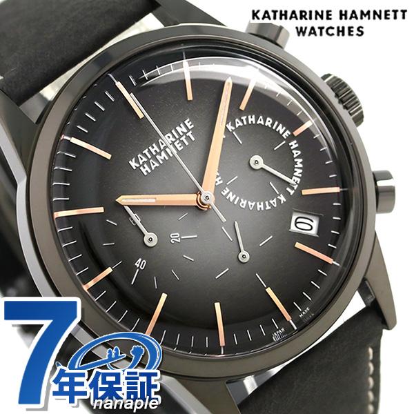 e2ea1986cd キャサリン ハムネット クロノグラフ 6 日本製 メンズ 腕時計 KH24H534 KATHARINE HAMNETT ブラックグラデーション 時計