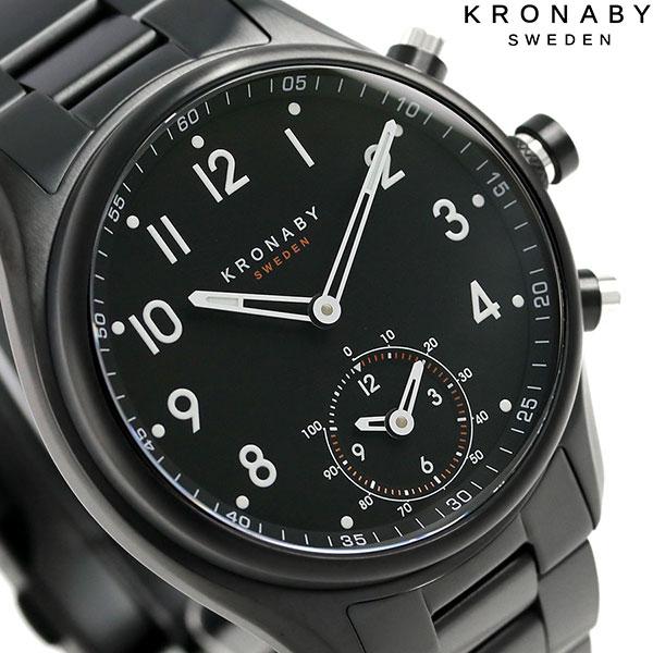 スマートウォッチ iPhone Android 対応 Bluetooth バイブレーション コネクトウォッチ A1000-1909 クロナビー 腕時計 時計