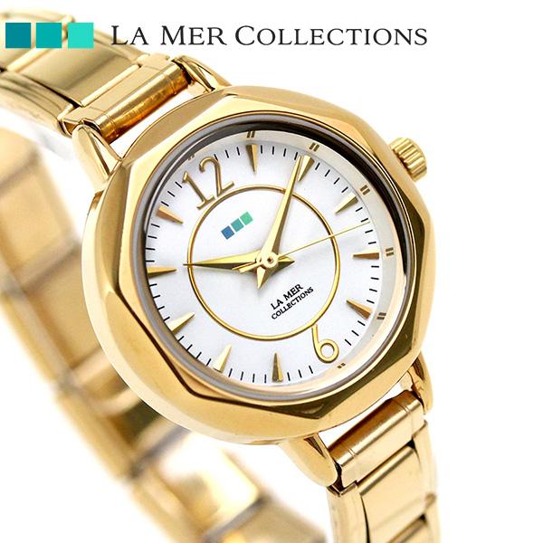 ラメール コレクション メキシコ クオーツ レディース LMDELMAR001 LA MER 腕時計 ホワイト×ゴールド 時計