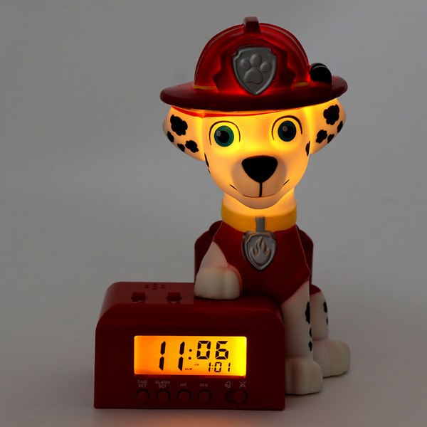 Alarm clock child character chattering ニコロデオンパウパトロールマーシャルクロック 2021319