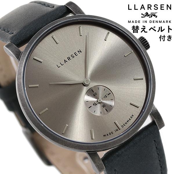 エルラーセン ニコライ 41mm デンマーク製 メンズ 腕時計 LL143OHGYTN LLARSEN ハニー×グレー 時計