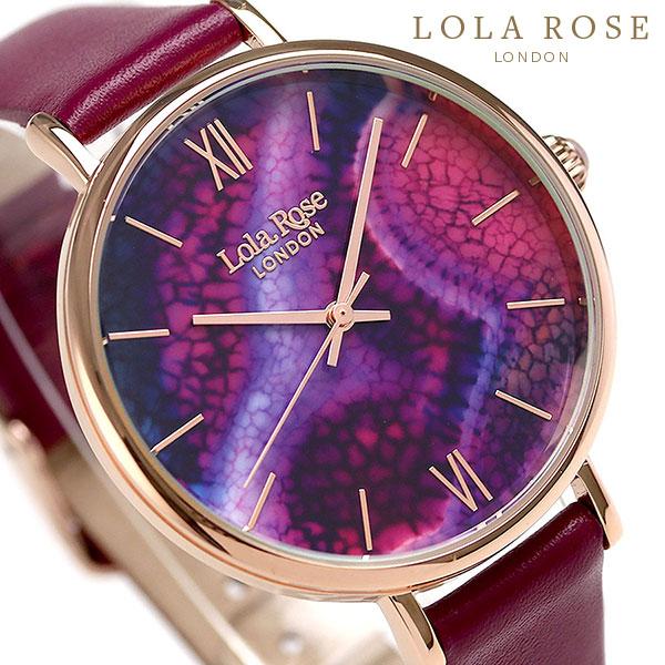 Lola Rose ローラローズ 38mm アクアパープルアゲート レディース 腕時計 LR2020 パープル 時計
