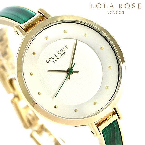 Lola Rose ローラローズ 35mm ブレスレット LR4030 レディース 腕時計 グリーン×ゴールド 時計