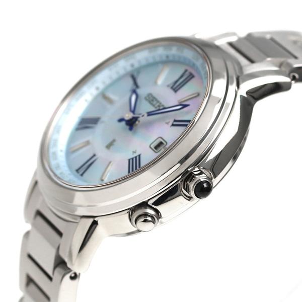 486cab280c 【ジュエリートレイ付き♪】セイコー ルキア SEIKO LUKIA 電波 ソーラー チタン レディース 腕時計 SSQV027