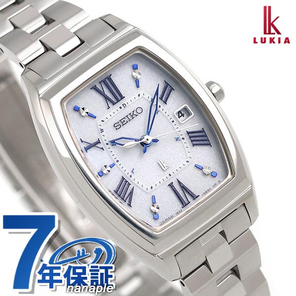 セイコー ルキア レディース トノー 電波ソーラー チタン 腕時計 SSQW031 SEIKO LUKIA シルバー 時計【あす楽対応】