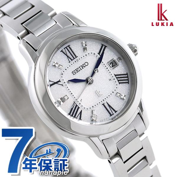a6a09f923c 【ジュエリートレイ付き♪】セイコー ルキア SEIKO LUKIA 電波 ソーラー チタン レディース 腕時計 SSQW035