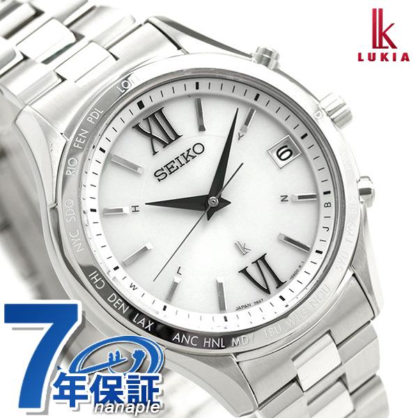 セイコー ルキア SEIKO LUKIA 電波 ソーラー メンズ 腕時計 SSVH025 綾瀬はるか シルバー 時計【あす楽対応】