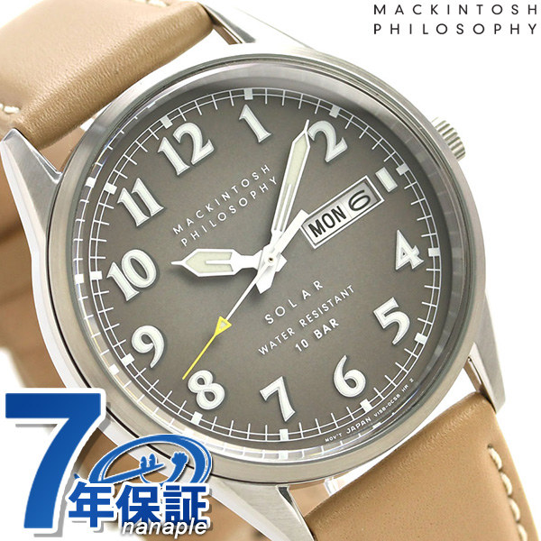 マッキントッシュ ソーラー 革ベルト メンズ 腕時計 FBZD987 MACKINTOSH PHILOSOPHY ブラウン 時計
