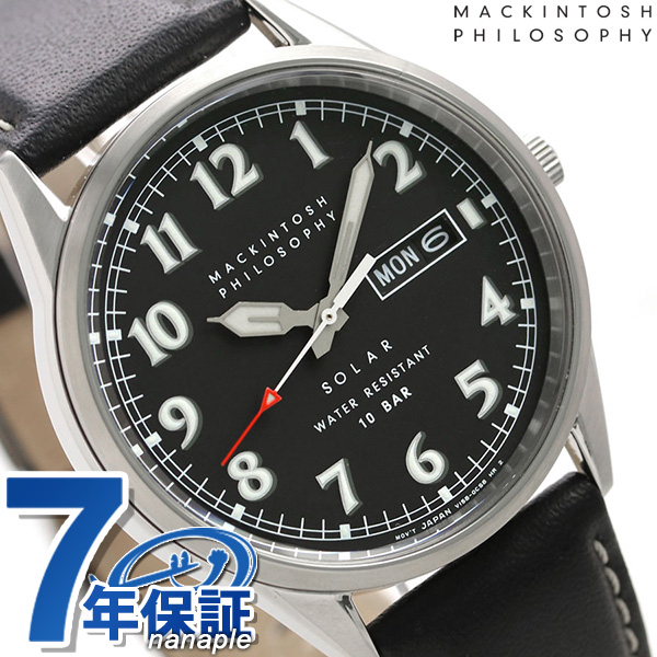 マッキントッシュ ソーラー 革ベルト メンズ 腕時計 FBZD988 MACKINTOSH PHILOSOPHY ブラック 時計