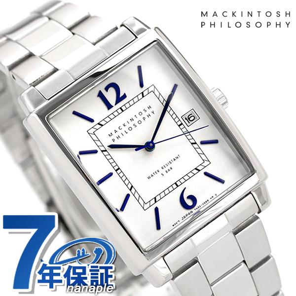 マッキントッシュ メンズ 腕時計 クラシック スクエア FBZT978 MACKINTOSH PHILOSOPHY ホワイト 時計【あす楽対応】