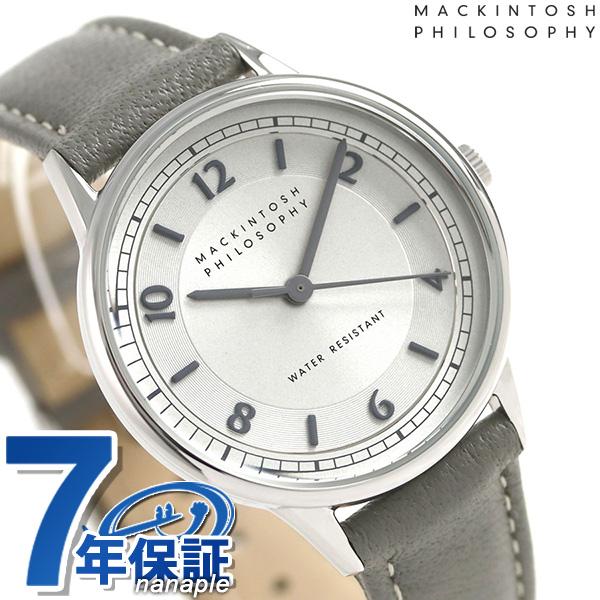 マッキントッシュ フィロソフィー 革ベルト レディース 腕時計 FCAK987 MACKINTOSH グレー 時計