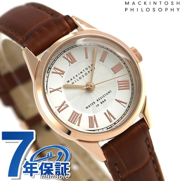マッキントッシュ フィロソフィー クオーツ レディース 腕時計 FCAK993 シルバー×ブラウン 時計