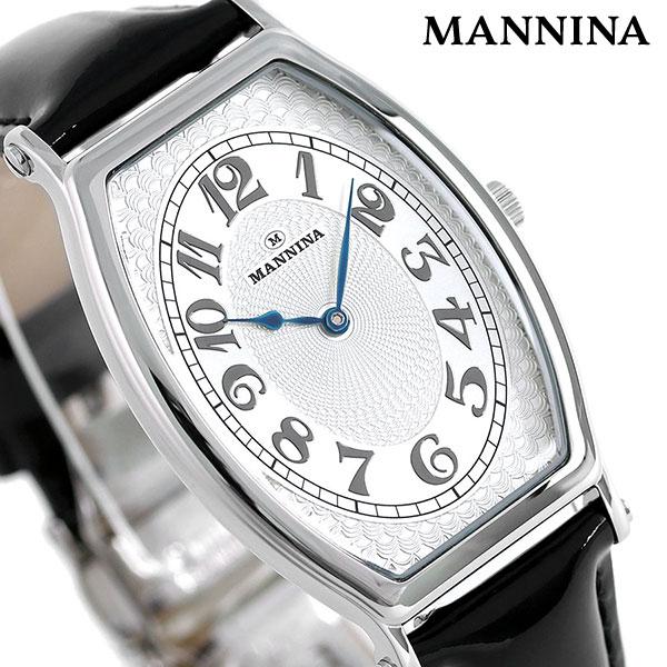 マンニーナ MANNINA メンズ 腕時計 トノー 31mm クオーツ 替えベルト付 MNN002-01 シルバー×ブラック 時計