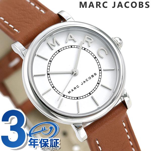 店内ポイント最大43倍!16日1時59分まで! マークジェイコブス 時計 ロキシー 28mm レディース 腕時計 MJ1572 MARC JACOBS ホワイト×ブラウン【あす楽対応】