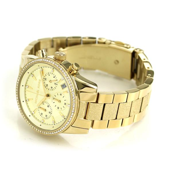 ccac3bd723ab マイケルコース 時計 レディース クロノグラフ ゴールド MK6597 MICHAEL KORS リッツ 37mm 腕時計【あす楽