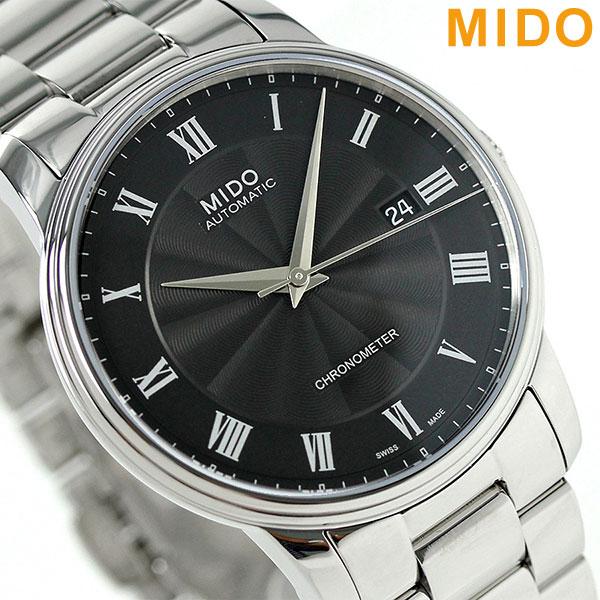 当店なら!さらに3000ポイント!24日23時59分まで MIDO ミドー バロンチェッリ 39MM 自動巻き メンズ 腕時計 M010.408.11.053.00 ブラック 時計
