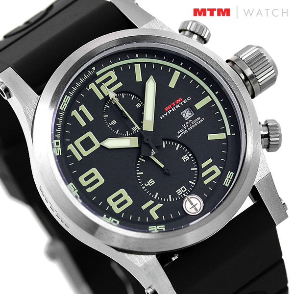 MTM エムティーエム ハイパーテック クロノ 2 クロノグラフ メンズ 腕時計 HC2-SS4-BKLM-BR2S-A HYPERTEC CHRONO 2 時計【あす楽対応】