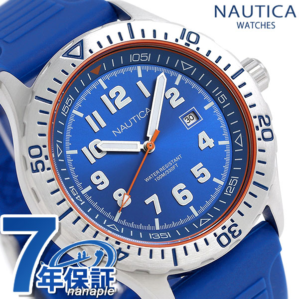 ノーティカ NSR105 クオーツ メンズ 腕時計 NAD12535G NAUTICA ブルー 時計