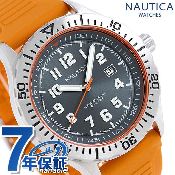ノーティカ NSR105 クオーツ メンズ 腕時計 NAD12537G NAUTICA グレー×オレンジ 時計