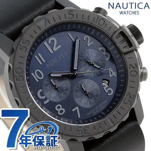 ノーティカ NMS01 クログラフ クオーツ 腕時計 NAD21509G NAUTICA ネイビー×ブラック 時計