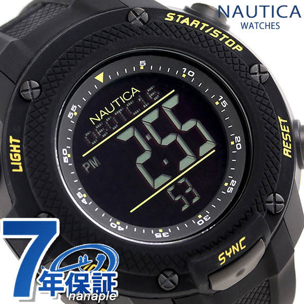 ノーティカ NMX15 クロノグラフ クオーツ 腕時計 NAI19523G NAUTICA オールブラック 時計【あす楽対応】