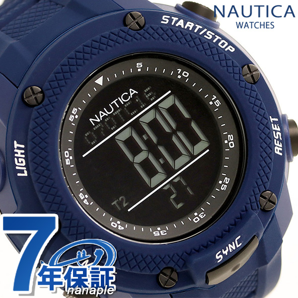 ノーティカ NMX15 クロノグラフ クオーツ 腕時計 NAI19524G NAUTICA ブラック×ブルー 時計【あす楽対応】