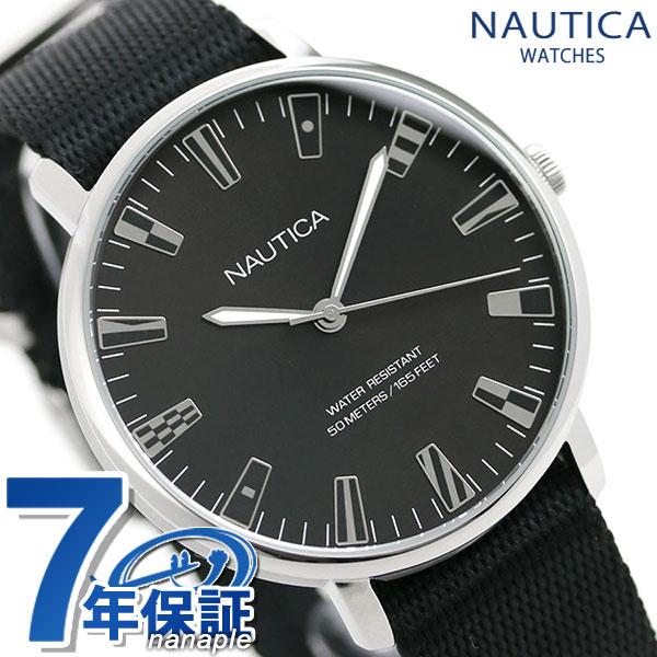 NAUTICA ノーティカ メンズ 腕時計 フラッグ 旗 NAPCRF901 カプレーラ 43mm ブラック【あす楽対応】