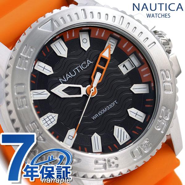 ノーティカ NAUTICA メンズ 腕時計 100m防水 旗 ブラック 45mm NAPKYW002 キーウエストフラッグ 時計