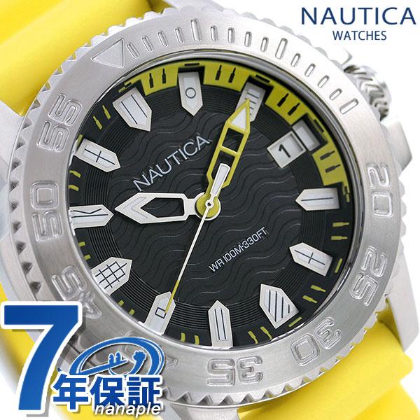ノーティカ NAUTICA メンズ 腕時計 100m防水 旗 ブラック 45mm NAPKYW003 キーウエストフラッグ 時計【あす楽対応】