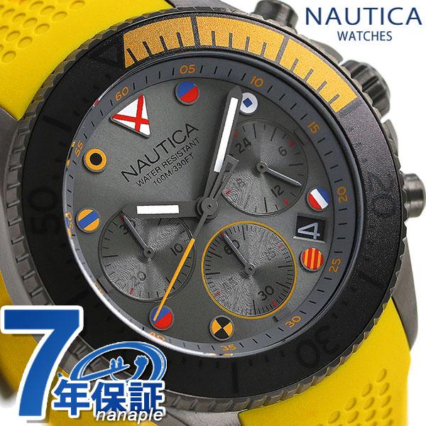 ノーティカ NAUTICA メンズ 腕時計 100m防水 クロノグラフ 旗 44mm NAPWPC004 ウェストポート 時計【あす楽対応】