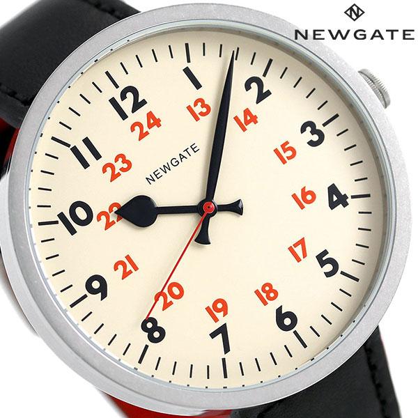 ニューゲート NEWGATE 50mm アラビア数字 革ベルト WWLDRMVS005LK メンズ レディース 腕時計 クリーム×ブラック 時計
