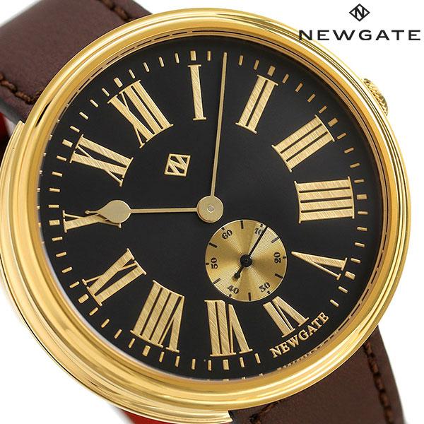 ニューゲート NEWGATE 50mm スモールセコンド 革ベルト WWLSHPVB035LB メンズ 腕時計 ブラック×ブラウン 時計