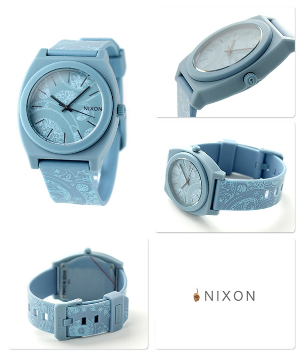 Nixon time teller p P medium size watch A1191973 NIXON quartz A119 blue / Paisley P19Jul15