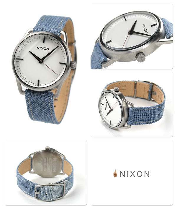 Nixon A1291601 nixon Nixon Mellor watch ウォッシュドデニム / cream