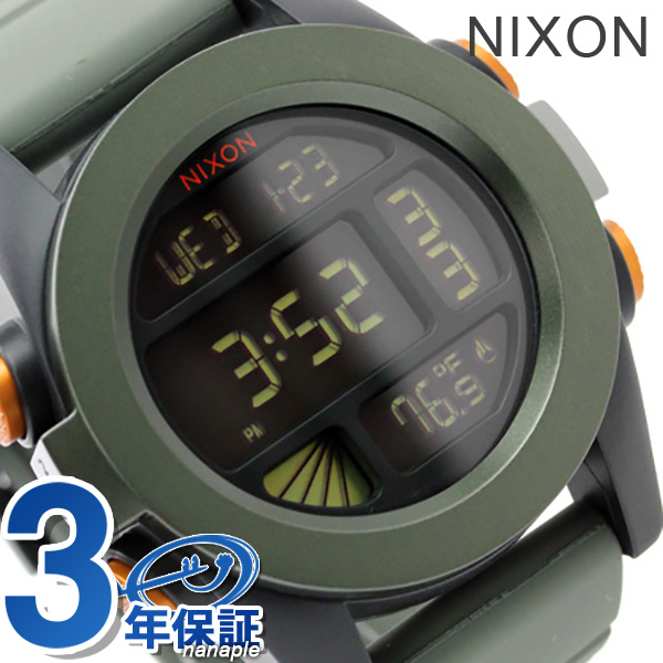 Nixon watch THE UNIT ANODAZE A197 unit surplus / black / orange nixon A1971265