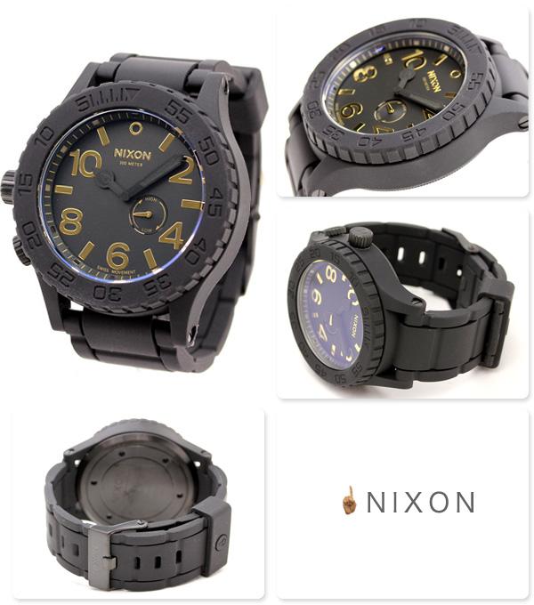尼克松A2361041 nixon尼克松51-30手表橡胶垫子黑色/黄金
