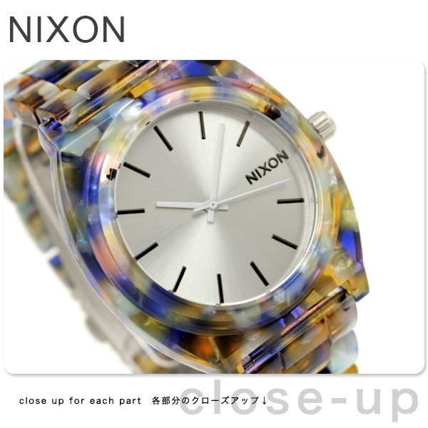 nixon Nixon watch THE TIME TELLER ACETATE A327 thyme Teller acetate watercolor painting acetate A3271116