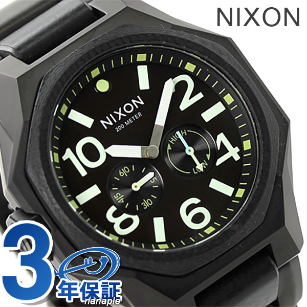 Nixon A3971042 nixon Nixon tangent 20 standard atmosphere waterproofing men watch mat black / surplus